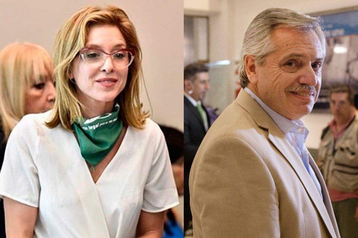 Dura respuesta de Carla Peterson a las declaraciones de Alberto Fernández sobre el aborto