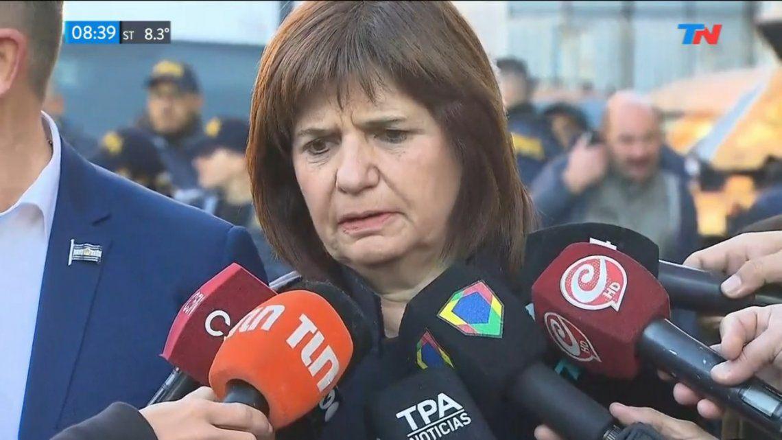 San Miguel del Monte | Patricia Bullrich, contra el accionar de los policías: Las pruebas muestran algo más complejo