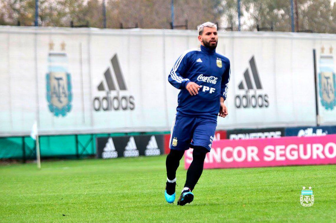 Kun Agüero ya se entrena con la Selección Argentina - @Argentina