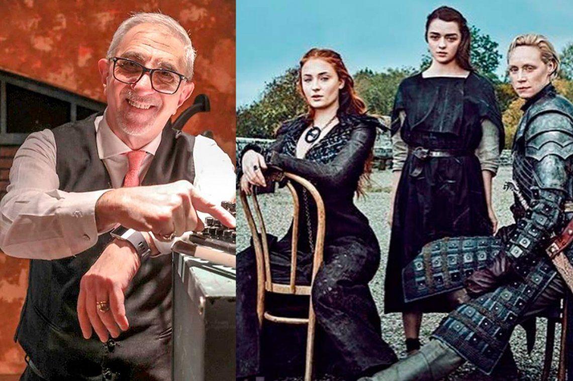 Ricardo Canaletti confesó que tiene fantasías sexuales con una actriz de Game of Thrones