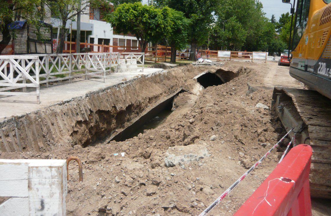 El tramo entubado del arroyo Maldonado que colapsó