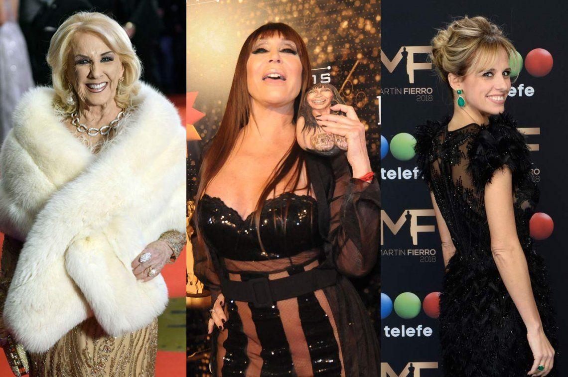 Mirtha Legrand, Mariana Fabbiani y Moria Casán anunciaron que no irán a la entrega de los premios Martín Fierro
