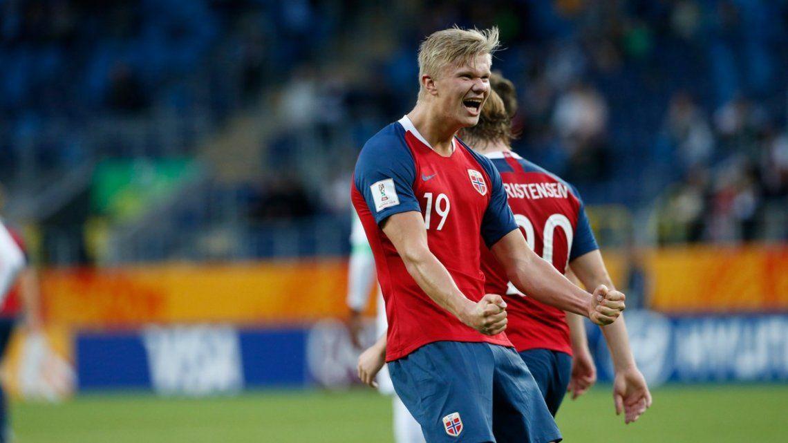 Erling Haaland, jugador de Noruega, metió 9 goles en el triunfo de su equipo ante Honduras en el Mundial Sub 20