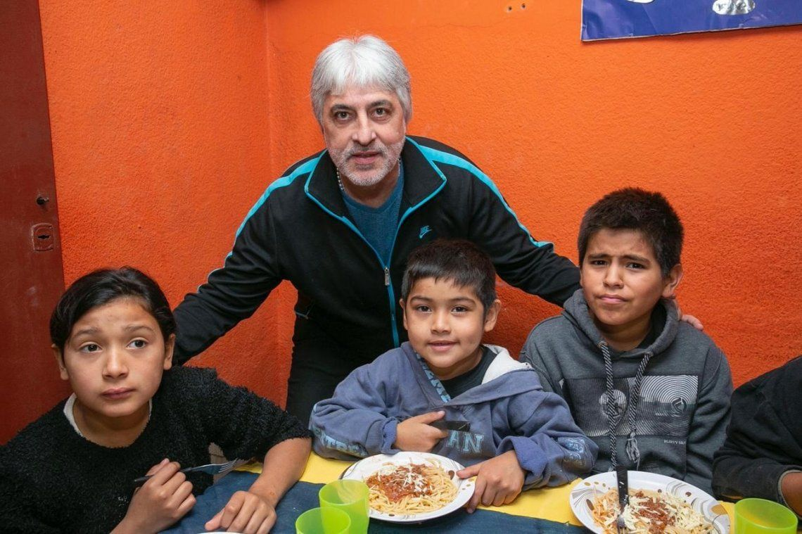 Rafa Di Zeo, el capo de la 12, en un rol solidario