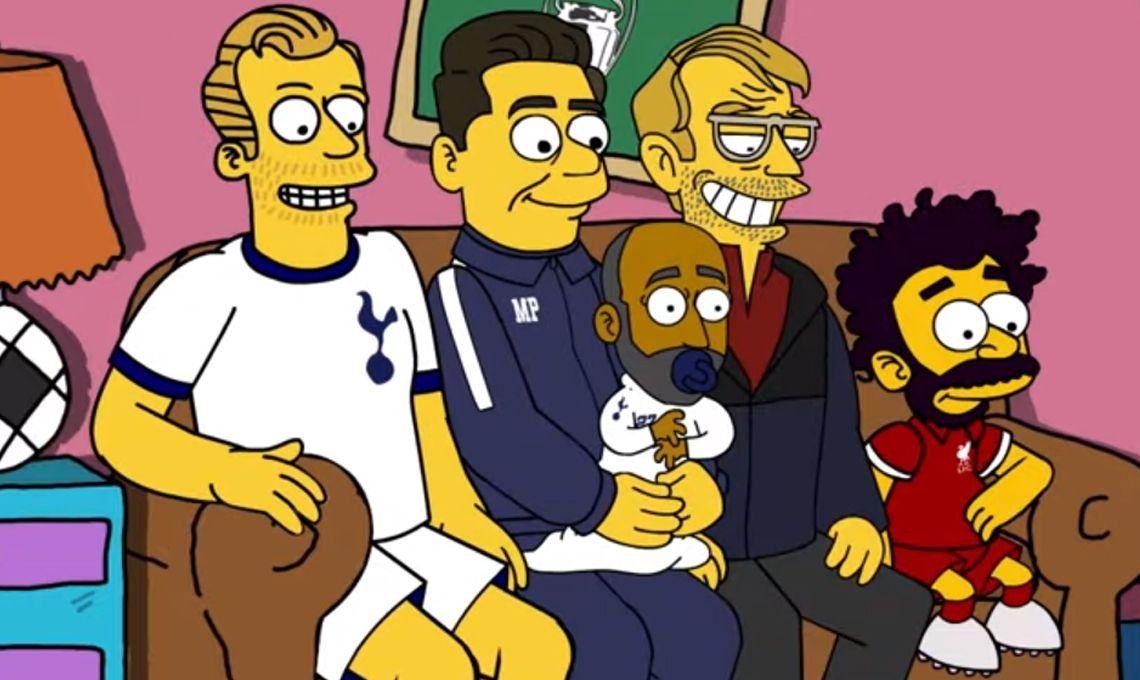 La final de la Champions League también se juega en Springfield y Los Simpsons serán espectadores de lujo del duelo Liverpool-Tottenham