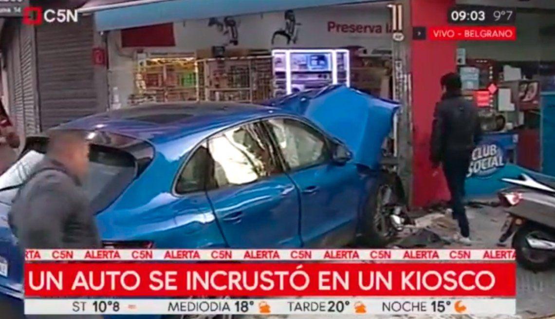 Tiene 15 años y casi provocó una tragedia con su Porsche en Belgrano