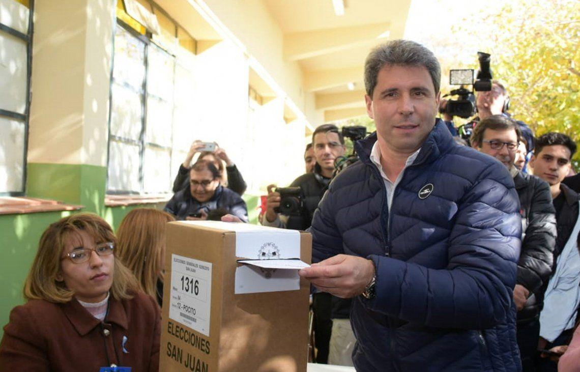 El gobernador Sergio Uñac se impuso por un amplio margen que ya había anticipado las PASO.
