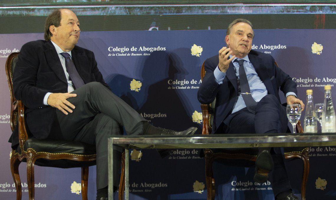 Ernesto Sanz y Miguel Pichetto compartieron un panel durante el evento Díálogos para la Argentina.