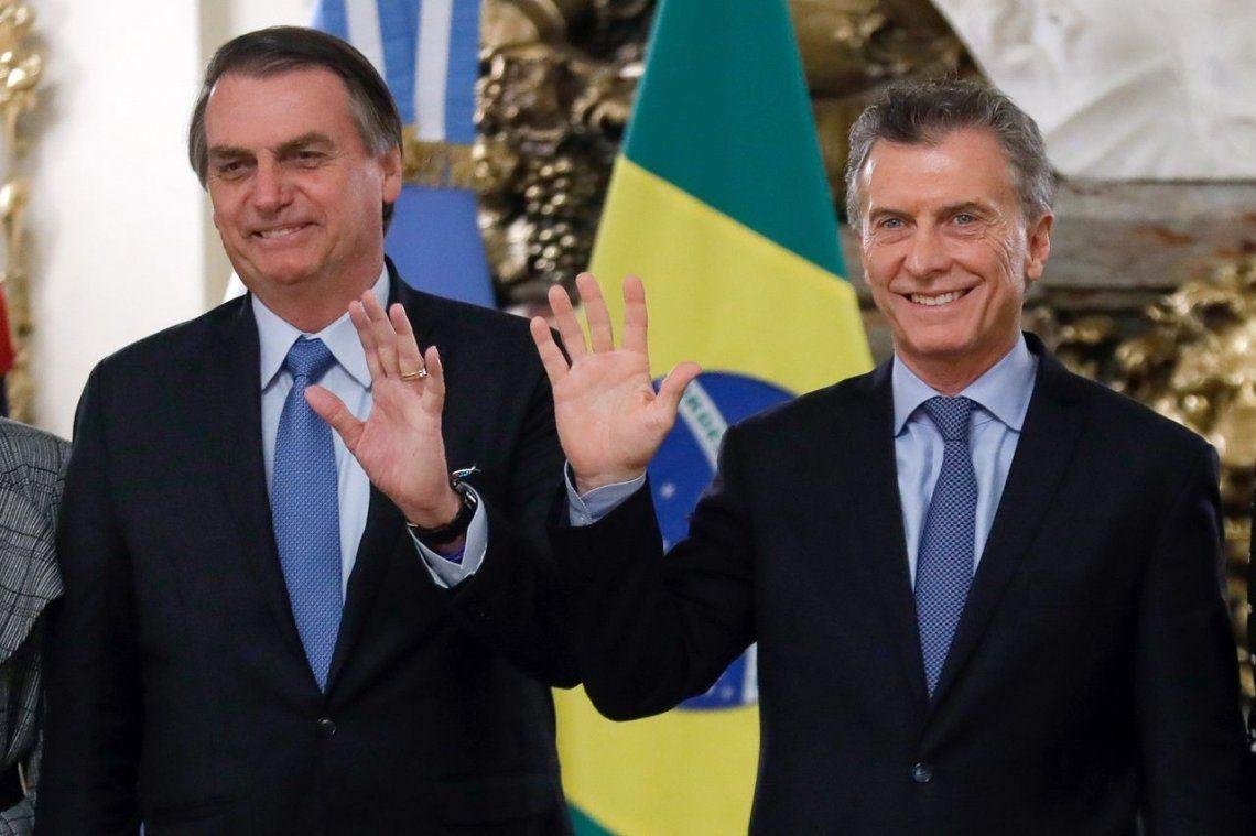 Bolsonaro en la Rosada: Con Macri compartimos los mismos ideales