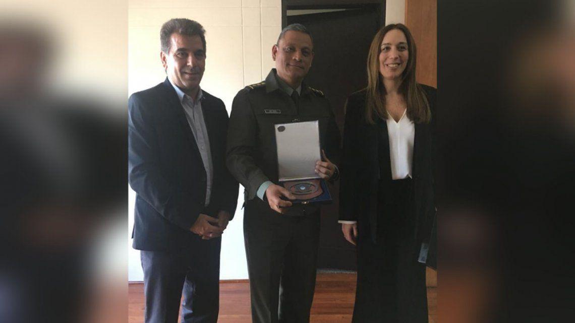 Vidal y Ritondo se reunieron con el director general de la división antinarcóticos de Colombia