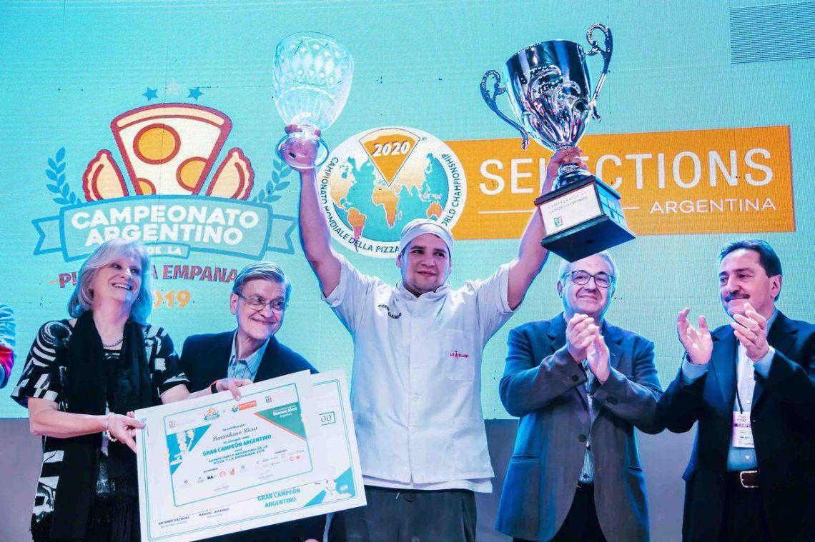 Maximiliano Mieres es el mejor pizzero de Argentina
