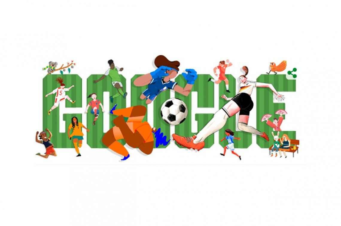 Google celebra el inicio del Mundial de fútbol femenino Francia 2019
