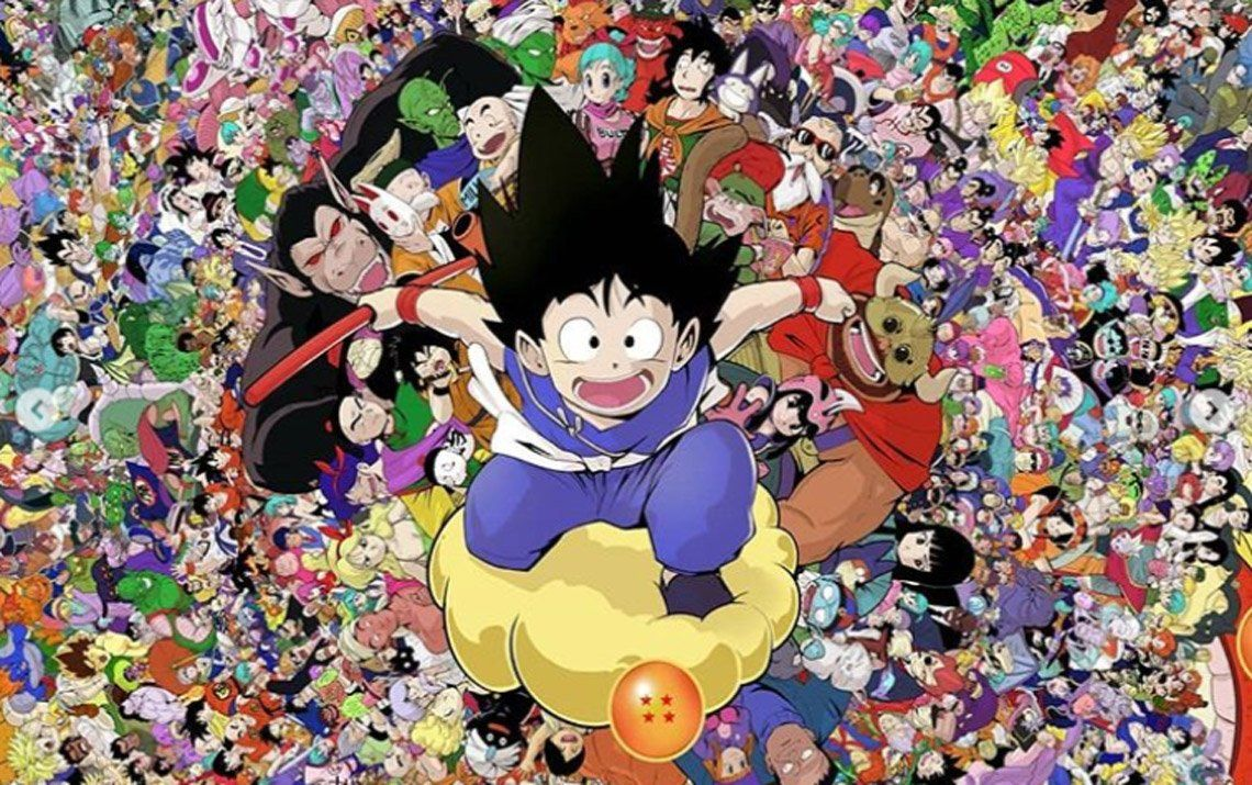 Todos los personajes de Dragon Ball en una increíble ilustración