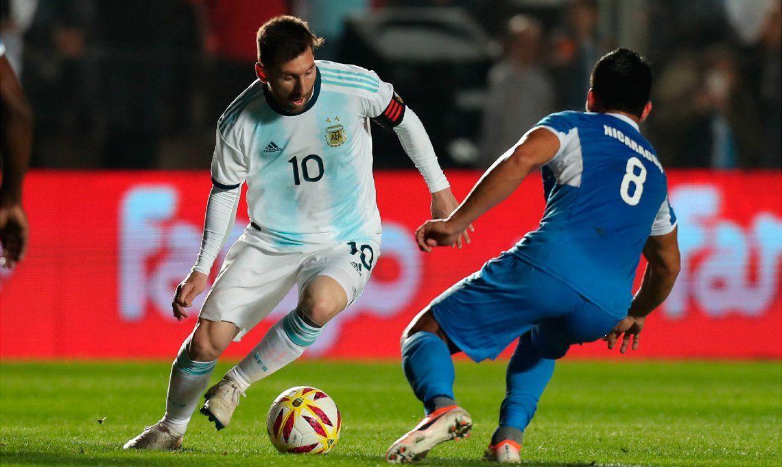 Goleada: Argentina venció 5-1 a Nicaragua en la antesala de la Copa América
