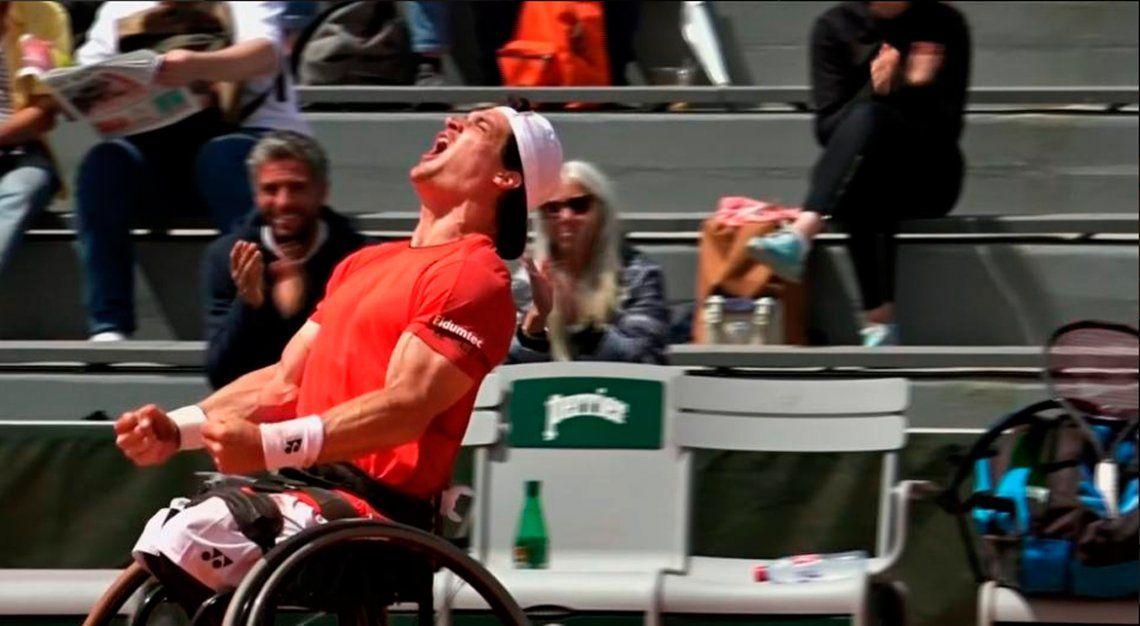 El argentino Gustavo Fernández se coronó campeón de Roland Garros en tenis adaptado