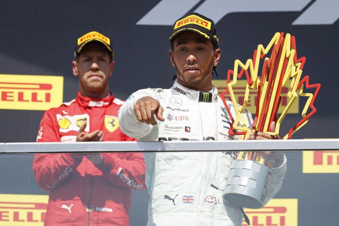 Polémica en la Fórmula Uno: Hamilton se llevó el triunfo tras una sanción a Vettel