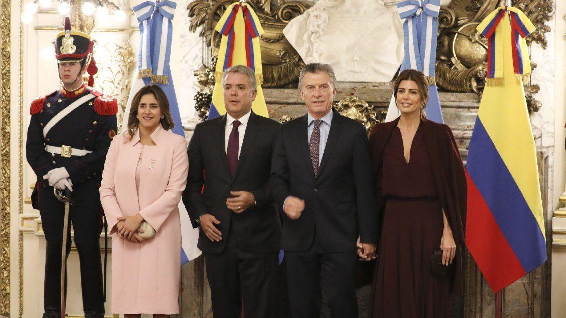 Mauricio Macri y Duque reclamaron terminar con la usurpación en Venezuela