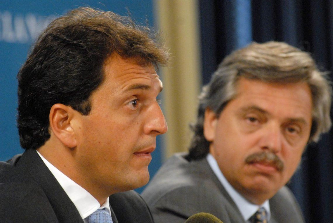 Archivo: Sergio Massa y Alberto Fernández
