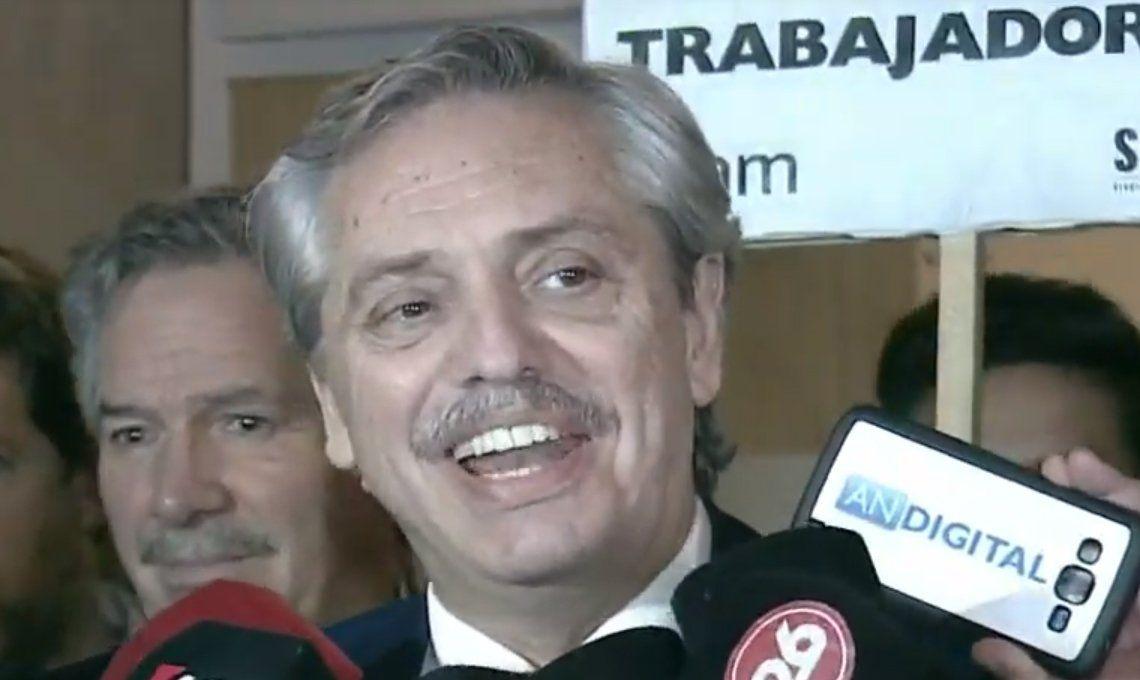 Alberto Fernández eludió hablar de las PASO