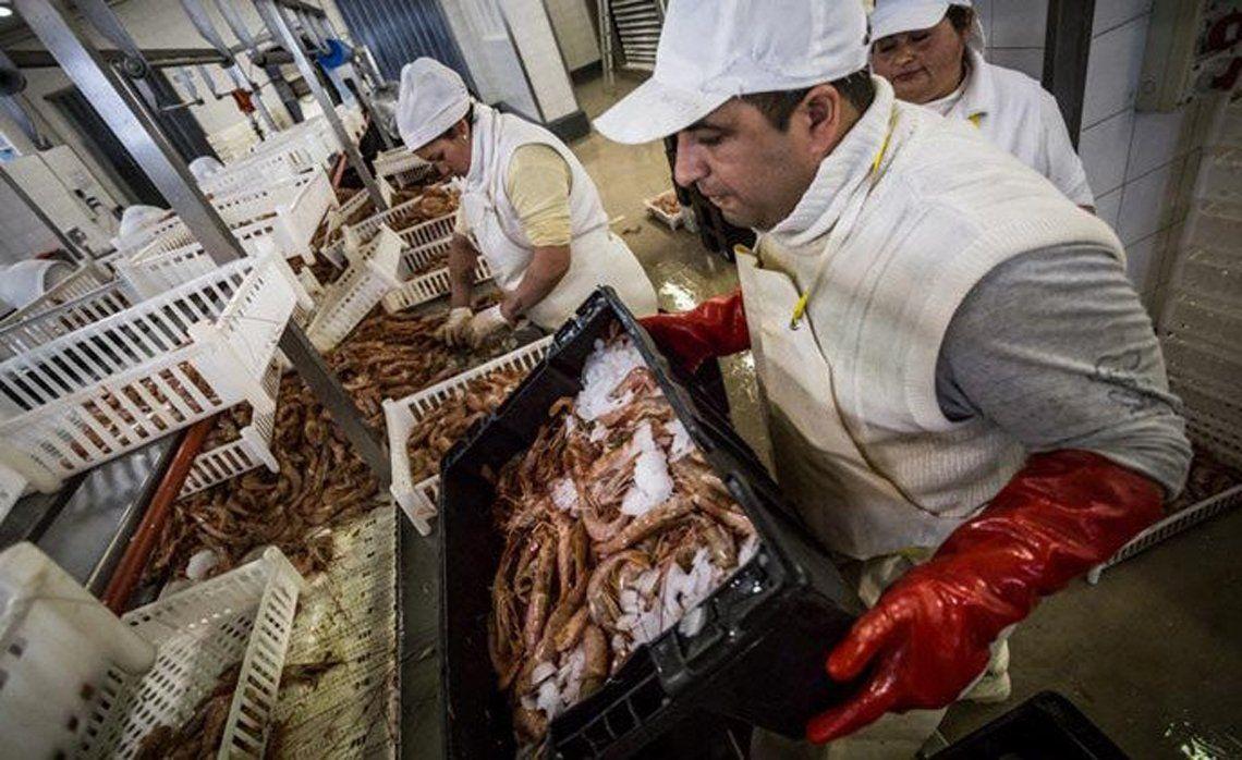 El accidente ocurrió cuando el trabajador golpeó su dedo meñique contra un cajón de langostinos congelados.