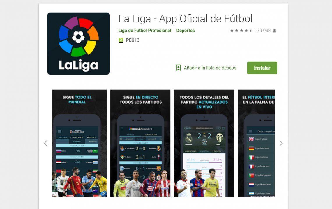 La aplicación oficial del fútbol español usa tu micrófono para cazar piratas