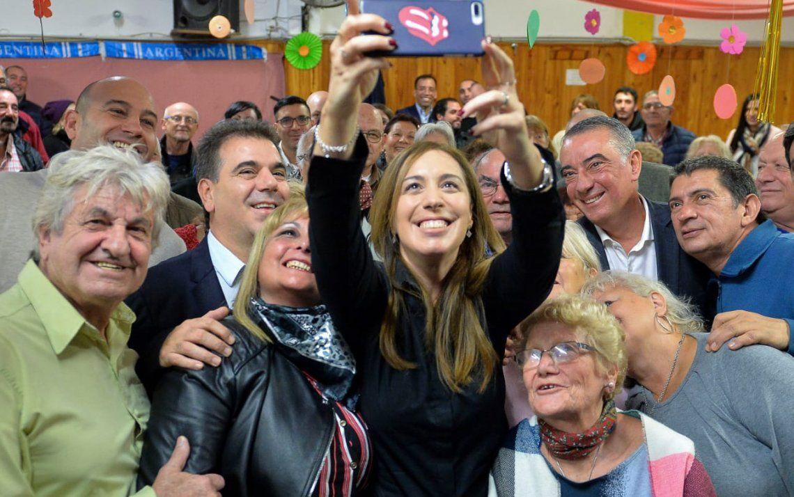 Quilmes: María Eugenia Vidal visitó el centro de jubilados Elsieland