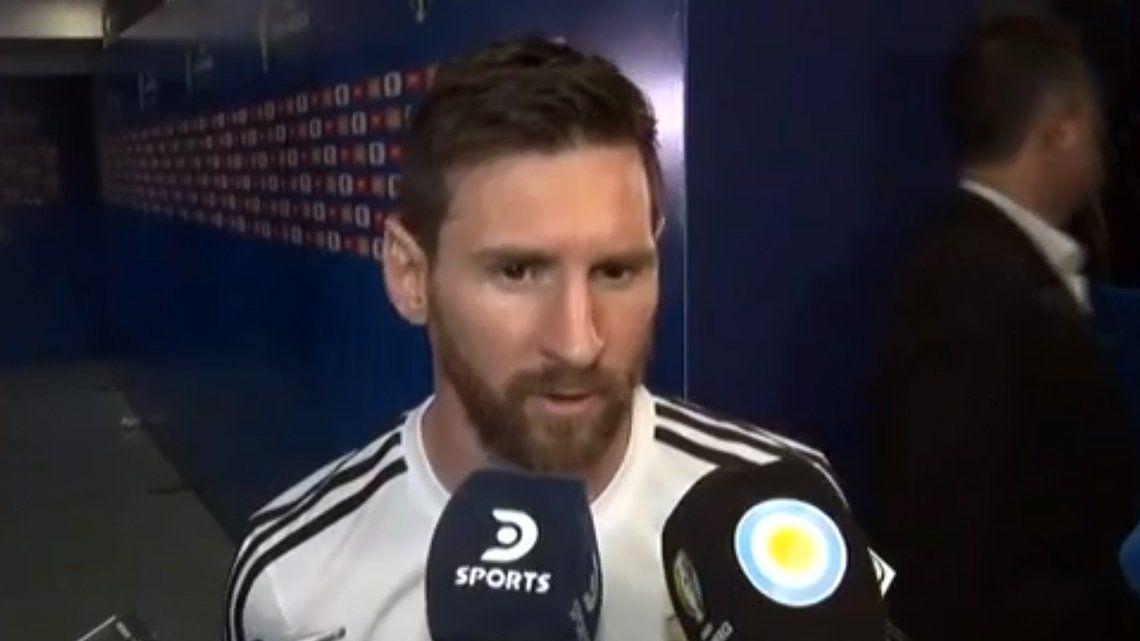 Copa América | Messi: Nos tiene que llevar un día asimilar esta derrota