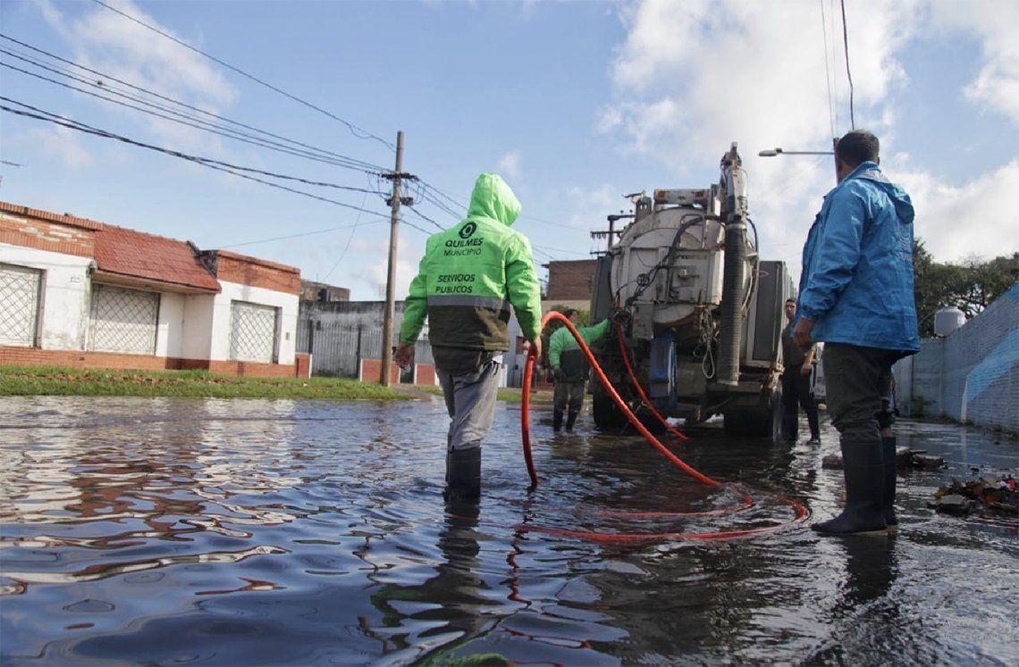 Quilmes: se realizaron trabajos de asistencia por el temporal