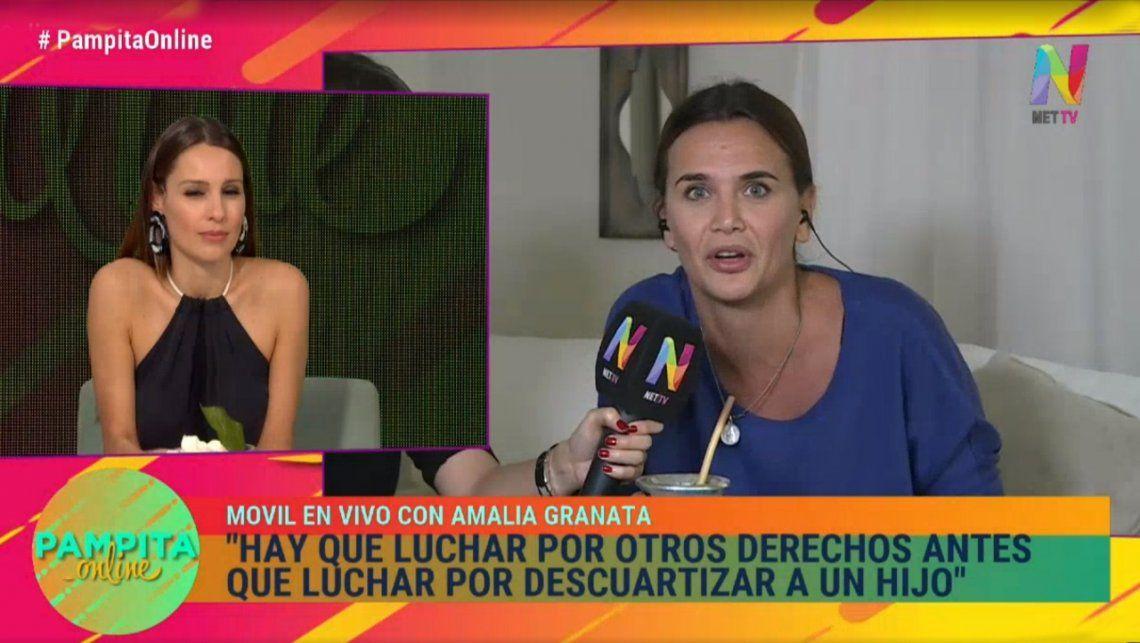 Fuerte cruce entre Amalia Granata y Pampita por el aborto: Lo van a tener que seguir haciendo en la clandestinidad