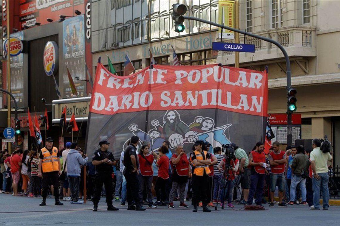 Jornada de cortes por protestas en la Ciudad