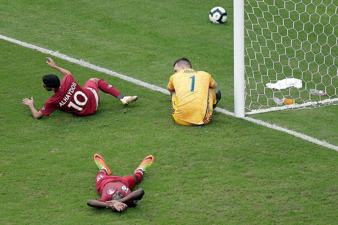El palo salvó a Argentina: la distracción de Lo Celso que pudo terminar en empate de Qatar
