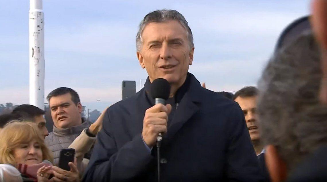 Macri inauguró un nuevo tramo de la Ruta 7:  Hoy las obras cuestan un 40% menos que en el gobierno anterior