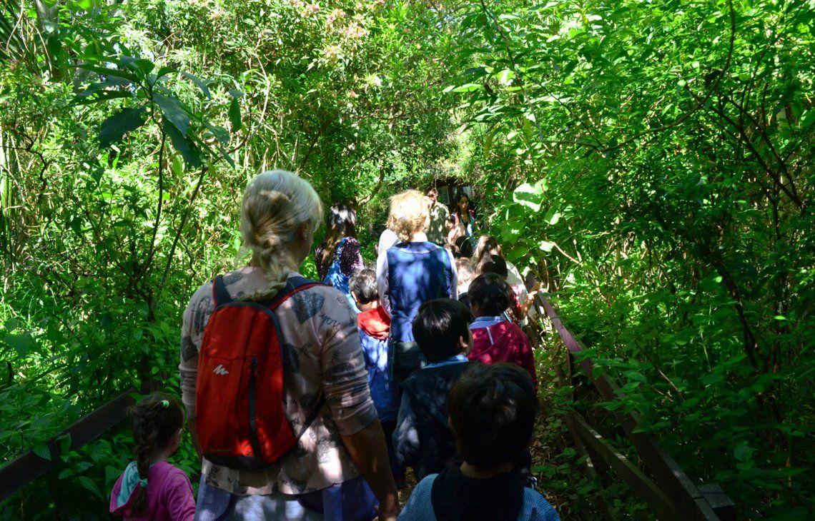 El eje de Biodiversidad lleva a las escuelas a conocer la Reserva Ecológica.