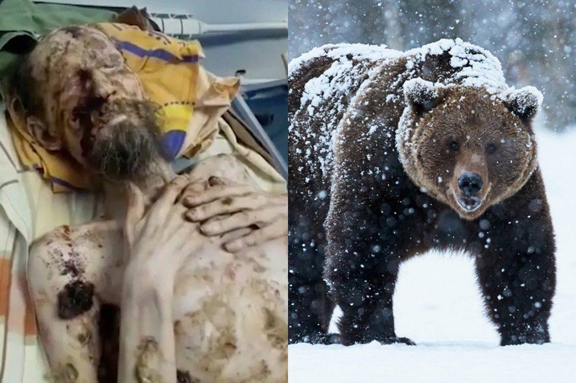 Fake news: el hombre que sobrevivió un mes en la cueva de un oso en Rusia era una historia falsa