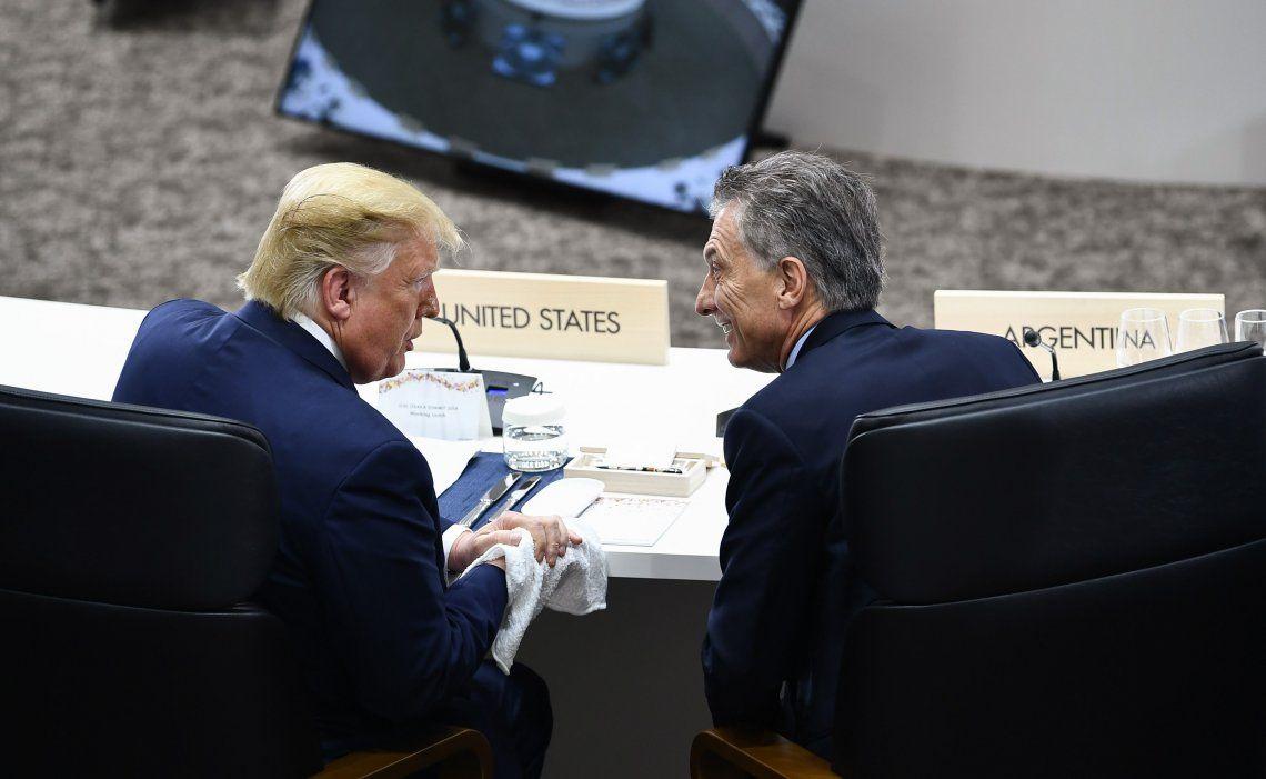 Macri tuvo a su derecha al anfitrión nipón y a su izquierda al presidente de los Estados Unidos
