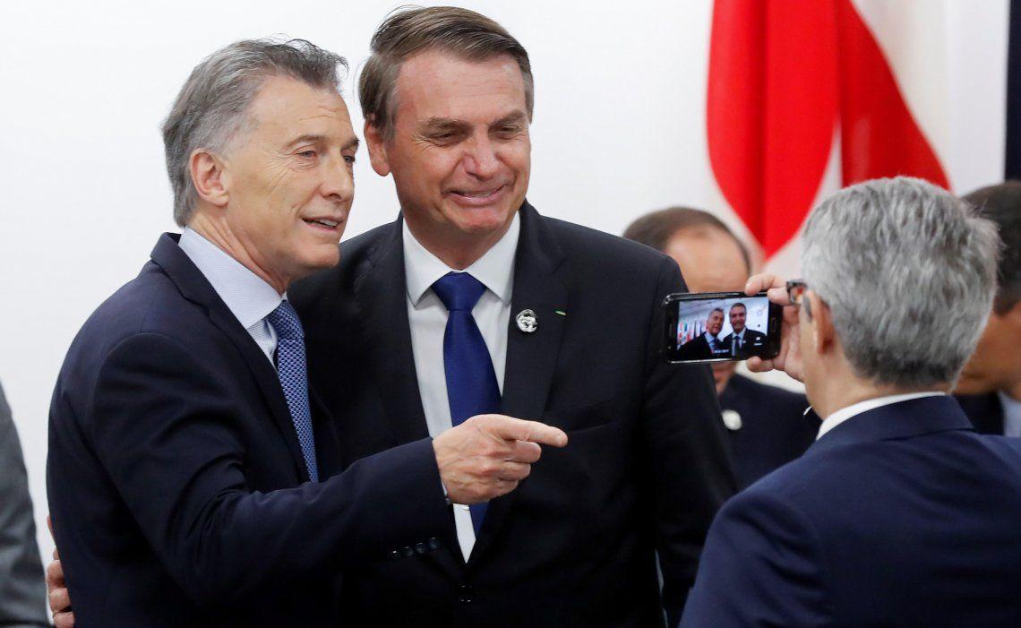 Macri y Bolsonaro tuvieron encuentros con líderes mundiales y les hicieron saber su satisfacción.