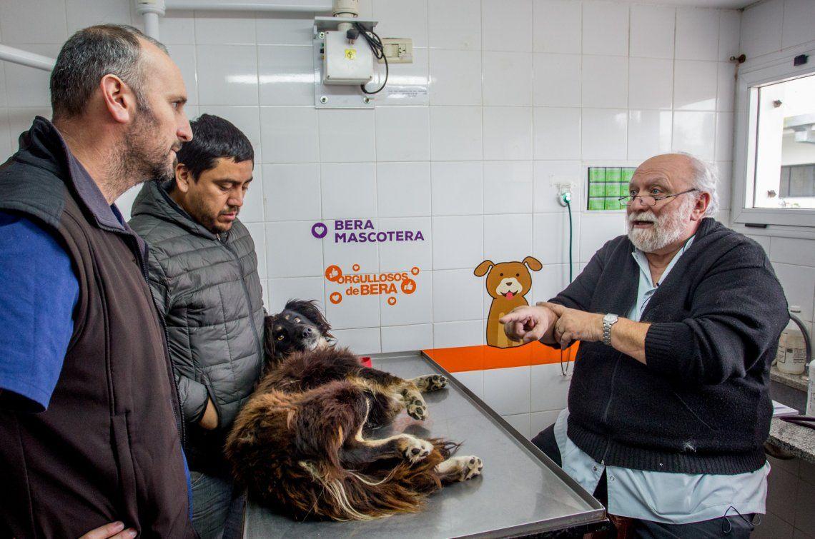 Para Romero fue la segunda visita a la Clínica Veterinaria Municipal de Berazategui.