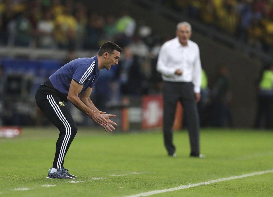 Scaloni: El árbitro no me gustó, las chiquititas fueron todas para Brasil