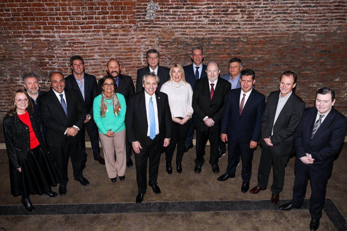 Alberto Fernández se reunió con doce gobernadores peronistas