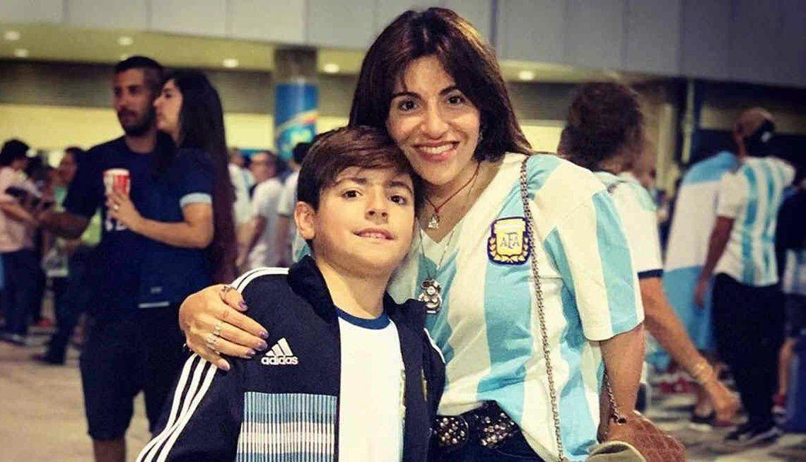 Para Gianinna Maradona y su hijo Benjamín, ganó el terror