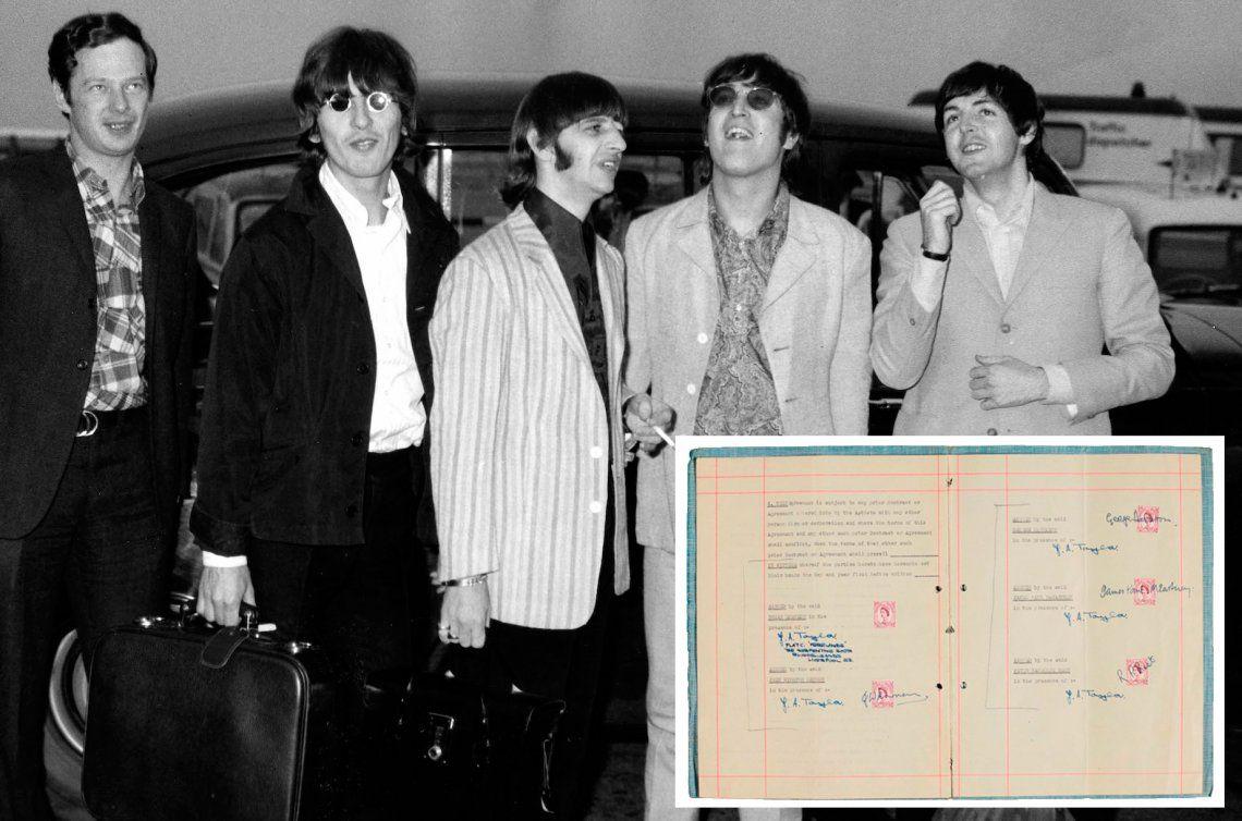 Subastarán el primer contrato entre The Beatles y su agente Brian Epstein