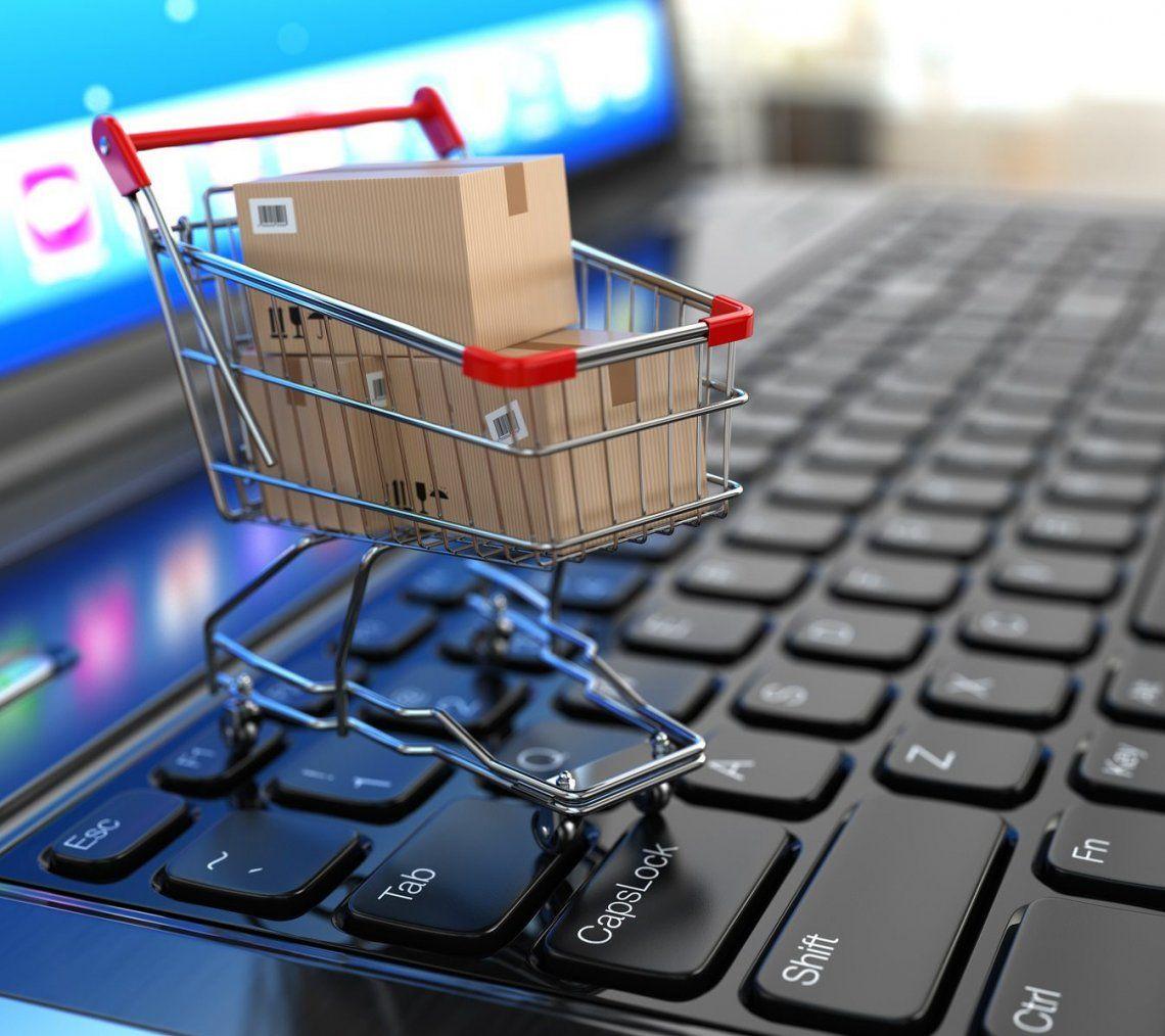La venta online tuvo un leve aumento de 1