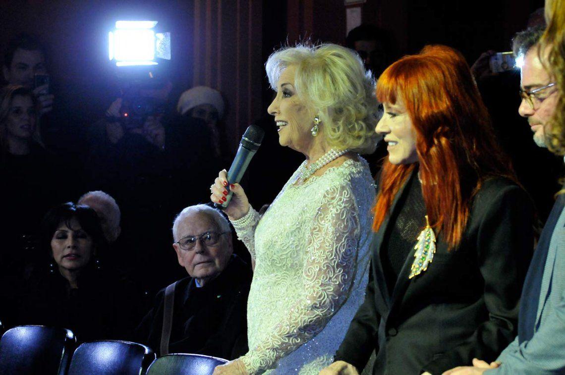 Homenajearon a Mirtha Legrand en el Teatro Regina