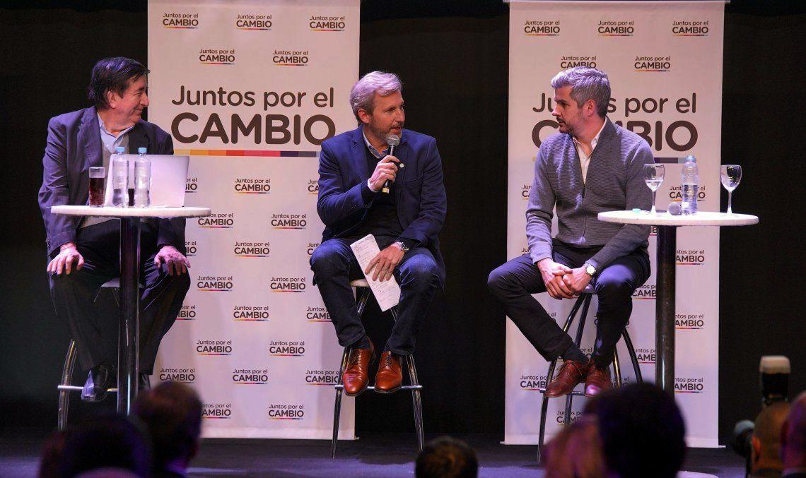 Marcos Peña habló de la campaña digital y Durán Barba sobre la posibilidad de que no haya balotaje.