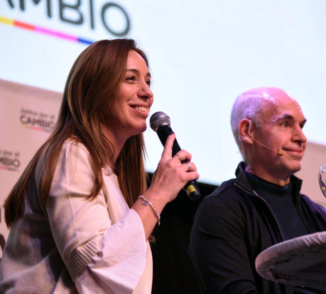 Vidal y Larreta mostraron los dientes en sus discursos en Parque Norte.
