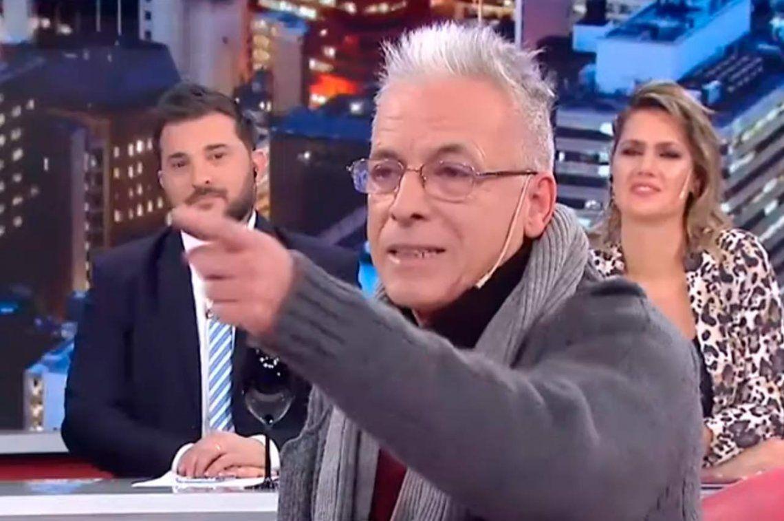 Romano se peleó con panelista de Intratables y lo escrachó una productora