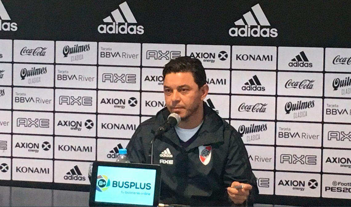 Gallardo pidió mantener al plantel y que hagan un esfuerzo por Paulo Díaz