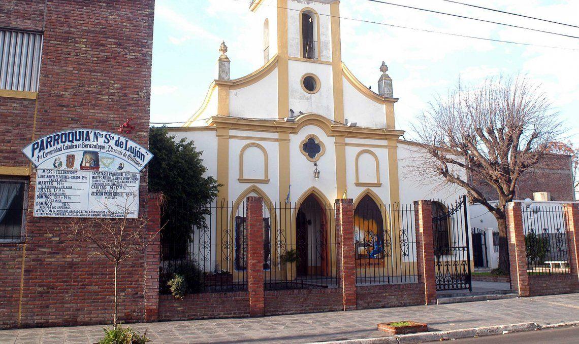 El primero de la seguidilla de robos ocurrió en la Parroquia Nuestra Señora de Luján de Villa España.