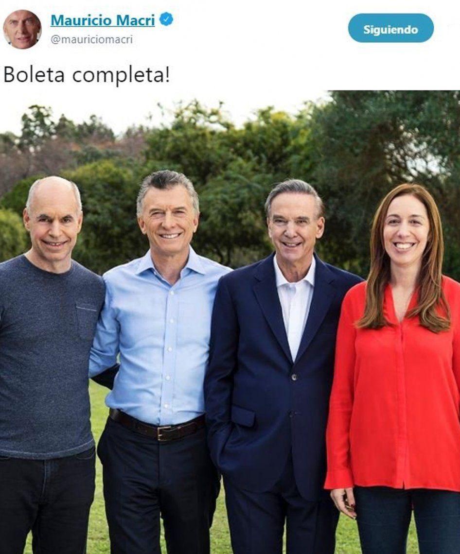 El Gobierno en campaña: impulsan votar con #BoletaCompleta