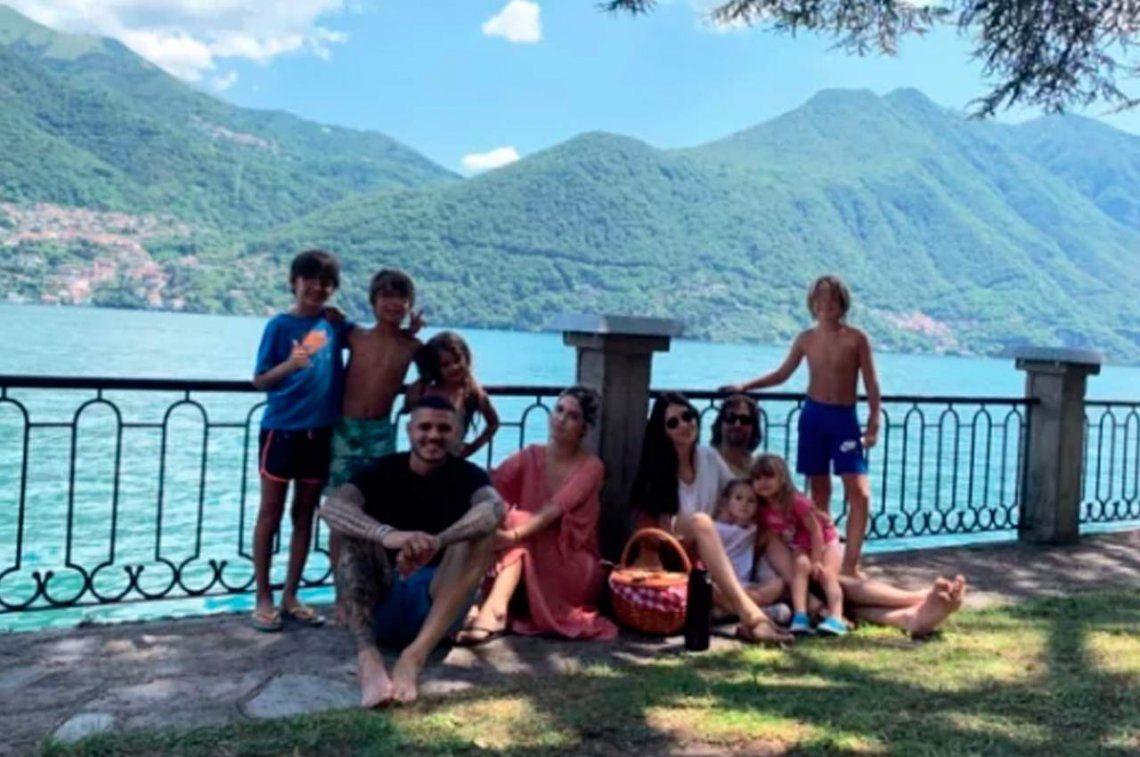 Wanda Nara le respondió a Maxi López con una foto familiar en paz y armonía